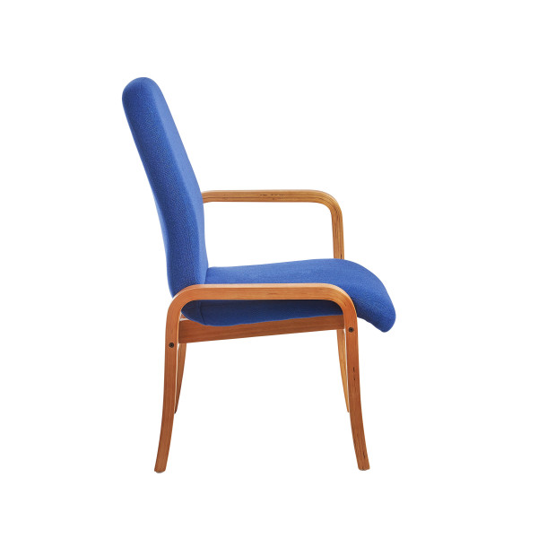 Yealm chair left arm in blue