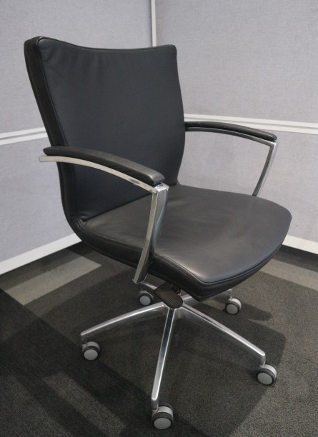 Connections Black Leather Executive Chair
